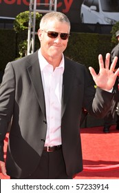 LOS ANGELES, CA - JULY 15: An NFL Quarterback Brett Favre, on the red carpet of the 2010 ESPY Awards at the Nokia Theater at LA Live, on July 15, 2010 in Los Angeles, CA