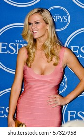 LOS ANGELES, CA - JULY 15: An actress and super model Brooklyn Decker, in the media room of the 2010 ESPY Awards at the Nokia Theater at LA Live, on July 15, 2010 in Los Angeles, CA