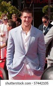 LOS ANGELES, CA - JULY 15: An NFL Rookie Quarterback Tim Tebow, on the red carpet of the 2010 ESPY Awards at the Nokia Theater at LA Live, on July 15, 2010 in Los Angeles, CA