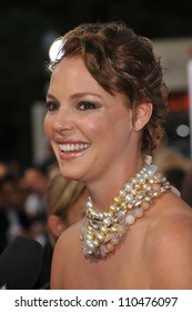 """LOS ANGELES, CA - JULY 16, 2009: Katherine Heigl at the premiere of her new movie """"The Ugly Truth"""" at the Cinerama Dome, Hollywood."""