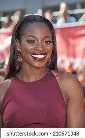 LOS ANGELES, CA - JULY 16, 2014: Tennis star Sloane Stephens at the 2014 ESPY Awards at the Nokia Theatre LA Live.