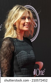 LOS ANGELES, CA - JULY 16, 2014: Tennis star Maria Sharapova at the 2014 ESPY Awards at the Nokia Theatre LA Live.