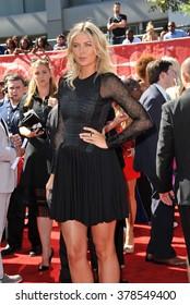 LOS ANGELES, CA - JULY 16, 2014: Tennis star Maria Sharapova at the 2014 ESPY Awards at the Nokia Theatre LA Live.