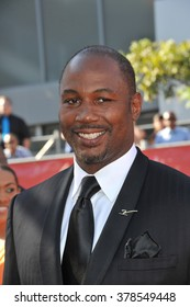 LOS ANGELES, CA - JULY 16, 2014: Boxer Lennox Lewis at the 2014 ESPY Awards at the Nokia Theatre LA Live.