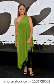 "LOS ANGELES, CA - July 17, 2018: Garcelle Beauvais at the premiere for ""The Equalizer 2"" at the TCL Chinese Theatre"