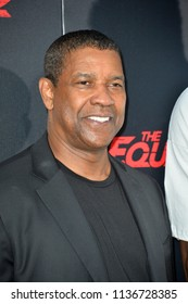 "LOS ANGELES, CA - July 17, 2018: Denzel Washington at the premiere for ""The Equalizer 2"" at the TCL Chinese Theatre"
