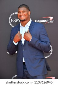 LOS ANGELES, CA - July 18, 2018: Calais Campbell at the 2018 ESPY Awards at the Microsoft Theatre LA Live