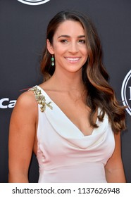 LOS ANGELES, CA - July 18, 2018: Aly Raisman at the 2018 ESPY Awards at the Microsoft Theatre LA Live