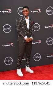LOS ANGELES, CA - July 18, 2018: Donovan Mitchell at the 2018 ESPY Awards at the Microsoft Theatre LA Live