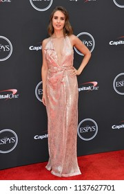 LOS ANGELES, CA - July 18, 2018: Alison Brie at the 2018 ESPY Awards at the Microsoft Theatre LA Live