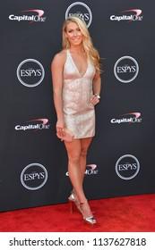 LOS ANGELES, CA - July 18, 2018: Mikaela Shiffrin at the 2018 ESPY Awards at the Microsoft Theatre LA Live