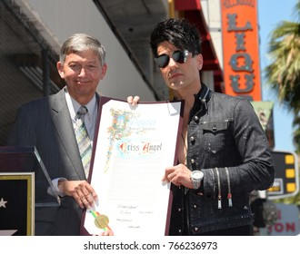LOS ANGELES, CA - July 20, 2017: Leron Gubler & Criss Angel at the Hollywood Walk of Fame Star Ceremony honoring illusionist Criss Angel