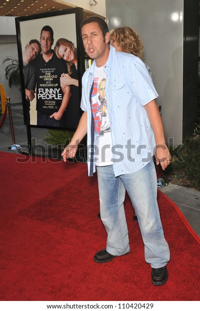 """LOS ANGELES, CA - JULY 20, 2009: Adam Sandler at the world premiere of his new movie """"Funny People"""" at the Arclight Theatre, Hollywood."""