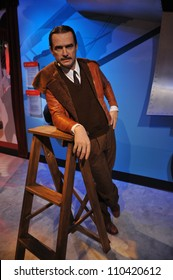 LOS ANGELES, CA - JULY 21, 2009: Howard Hughes waxwork figure - grand opening of Madame Tussauds Hollywood.
