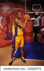 LOS ANGELES, CA - JULY 21, 2009: Kobe Bryant waxwork figure - grand opening of Madame Tussauds Hollywood.