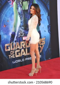 """LOS ANGELES, CA - JULY 21, 2014: Mikaela Hoover at the world premiere of """"Guardians of the Galaxy"""" at the El Capitan Theatre, Hollywood."""