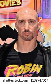 "LOS ANGELES, CA - July 22, 2018: Scott Menville at the premiere for ""Teen Titans Go! to the Movies"" at the TCL Chinese Theatre"