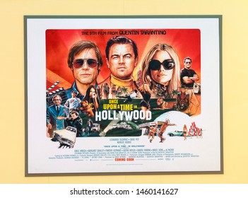 """Los Angeles, CA - July 22, 2019: A view of the poster for The Los Angeles Premiere Of  """"Once Upon a Time in Hollywood"""" held at TCL Chinese Theatre"""