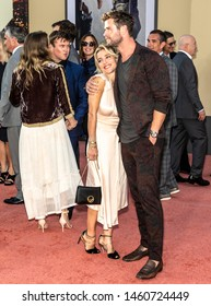 "Los Angeles, CA - July 22, 2019: Elsa Pataky and Chris Hemsworth attend The Los Angeles Premiere Of  ""Once Upon a Time in Hollywood"" held at TCL Chinese Theatre"