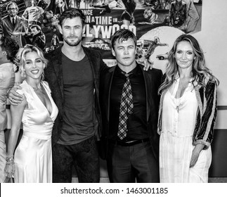 "Los Angeles, CA - July 22, 2019: Elsa Pataky, Chris Hemsworth, Luke Hemsworth and Samantha Hemsworth attend The Los Angeles Premiere Of  ""Once Upon a Time in Hollywood"" held at TCL Chinese Theatre"