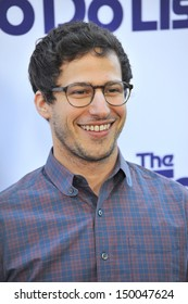"""LOS ANGELES, CA - JULY 23, 2013: Andy Samberg at the Los Angeles premiere of his movie """"The To Do List"""" at the Regency Bruin Theatre, Westwood."""
