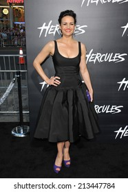 """LOS ANGELES, CA - JULY 23, 2014: Carla Gugino at the premiere of """"Hercules"""" at the TCL Chinese Theatre, Hollywood."""