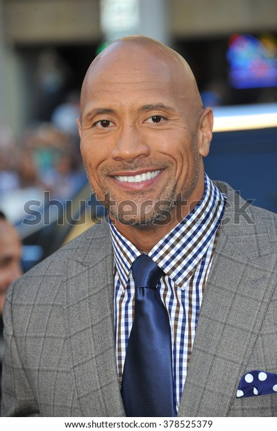 """LOS ANGELES, CA - JULY 23, 2014: Dwayne Johnson at the premiere of his movie  """"Hercules"""" at the TCL Chinese Theatre, Hollywood."""
