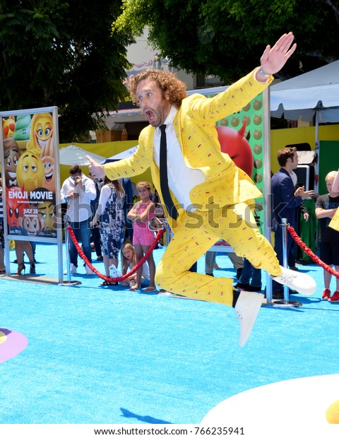 """LOS ANGELES, CA - July 23, 2017: TJ Miller at the world premiere for """"The Emoji Movie"""" at the Regency Village Theatre, Westwood"""