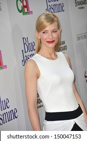 """LOS ANGELES, CA - JULY 24, 2013: Cate Blanchett at the Los Angeles premiere of her movie """"Blue Jasmine"""" at the Samuel Goldwyn Theatre, Beverly Hills."""