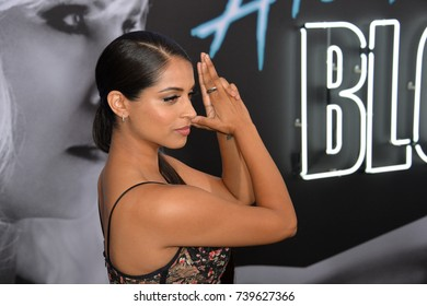 "LOS ANGELES, CA. July 24, 2017: Actress Lilly Singh at the premiere for ""Atomic Blonde"" at The Theatre at Ace Hotel, Los Angeles."