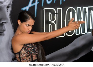 "LOS ANGELES, CA - July 24, 2017: Lilly Singh at the premiere for ""Atomic Blonde"" at The Theatre at Ace Hotel"