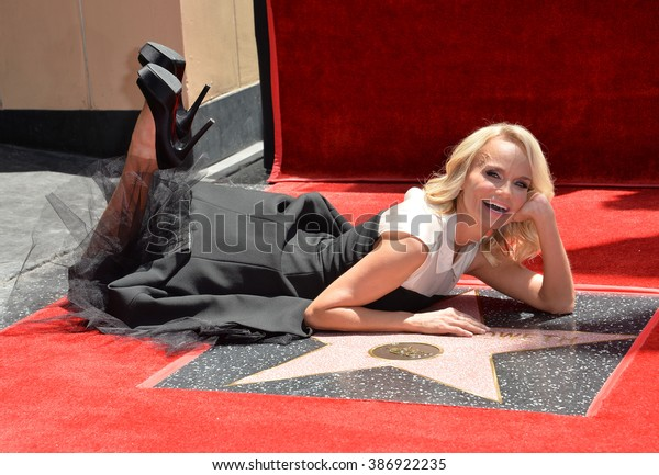 LOS ANGELES, CA - JULY 24, 2015: Kristin Chenoweth on Hollywood Blvd where she was honored with the 2,555th star on the Hollywood Walk of Fame.