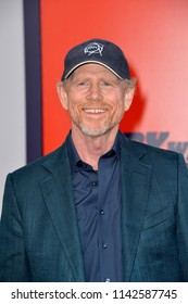 "LOS ANGELES, CA - July 25, 2018: Ron Howard at the world premiere for ""The Spy Who Dumped Me"" at the Fox Village Theatre"