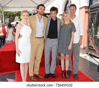 LOS ANGELES, CA - July 26, 2017: Judy Garner, Jason Butler Harner, Jason Bateman, Sofia Hublitz, Chris Mundy at the Hollywood Walk of Fame Star Ceremony honoring actor Jason Bateman
