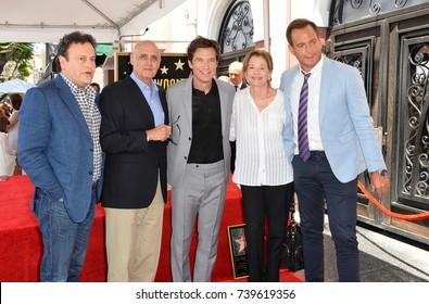 LOS ANGELES, CA. July 26, 2017: LtoR: Mitchell Hurwitz, Jeffrey Tambor, Jason Bateman, Jessica Walter, Will Arnett at the Hollywood Walk of Fame Star Ceremony honoring actor Jason Bateman.