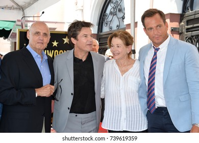 LOS ANGELES, CA. July 26, 2017: Arrested Development stars Jeffrey Tambor, Jason Bateman, Jessica Walter & Will Arnett at the Hollywood Walk of Fame Star Ceremony honoring actor Jason Bateman.