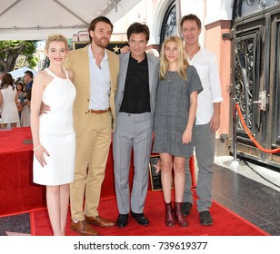 LOS ANGELES, CA. July 26, 2017: Ozark stars Judy Garner, Jason Butler Harner, Jason Bateman, Sofia Hublitz & Chris Mundy at the Hollywood Walk of Fame Star Ceremony honoring actor Jason Bateman.