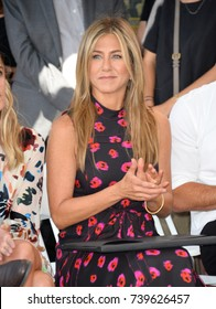 LOS ANGELES, CA. July 26, 2017: Actress Jennifer Aniston at the Hollywood Walk of Fame Star Ceremony honoring actor Jason Bateman.