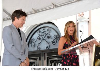 LOS ANGELES, CA. July 26, 2017: Actors Jason Bateman & Jennifer Aniston at the Hollywood Walk of Fame Star Ceremony honoring actor Jason Bateman.