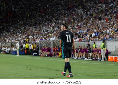 LOS ANGELES, CA - JULY 26: Gareth Bale during the 2017 International Champions Cup game between Manchester City and Real Madrid on July 26th 2017 at the Los Angeles Memorial Coliseum.