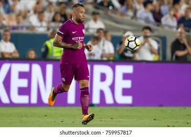 LOS ANGELES, CA - JULY 26: Nicolas Otamendi during the 2017 International Champions Cup game between Manchester City and Real Madrid on July 26th 2017 at the Los Angeles Memorial Coliseum.