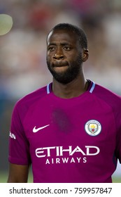 LOS ANGELES, CA - JULY 26: Yaya Toure during the 2017 International Champions Cup game between Manchester City and Real Madrid on July 26th 2017 at the Los Angeles Memorial Coliseum.