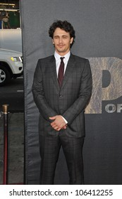 """LOS ANGELES, CA - JULY 28, 2011: James Franco at the Los Angeles premiere of his new movie """"Rise of the Planet of the Apes"""" at Grauman's Chinese Theatre, Hollywood. July 28, 2011  Los Angeles, CA"""