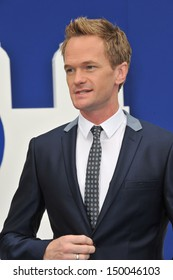 """LOS ANGELES, CA - JULY 28, 2013: Neil Patrick Harris at the Los Angeles premiere of his movie """"The Smurfs 2"""" at the Regency Village Theatre, Westwood."""