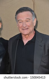 LOS ANGELES, CA - JULY 29, 2013: Robin Williams at the CBS 2013 Summer Stars Party in Beverly Hills.