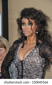 LOS ANGELES, CA - JULY 29, 2013: Tyra Banks at the CBS 2013 Summer Stars Party in Beverly Hills.