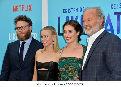 "LOS ANGELES, CA - July 31, 2018: Seth Rogen, Kristen Bell, Lauren Miller Rogen & Kelsey Grammer at the Los Angeles premiere of ""Like Father"" at the Arclight Theatre"