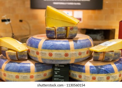 LOS ANGELES, CA - JULY 9, 2018: Mexico is slated to raise its levy on most U.S. cheese today to as much as 25%.