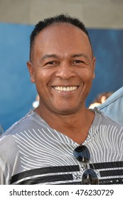 """LOS ANGELES, CA. July 9, 2016: Musician Ray Parker Jr at the Los Angeles premiere of """"Ghostbusters"""" at the TCL Chinese Theatre, Hollywood."""