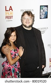 LOS ANGELES, CA - JUN 26: Guillermo Del Toro, Bailee Madison at the premiere of 'Don't Be Afraid Of The Dark' held at the Regal Cinemas L.A. Live in Los Angeles, California on June 26, 2011.